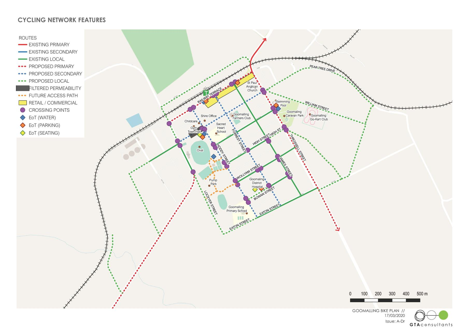 Cycling Network Upgrades Map