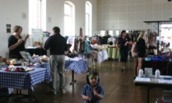 market stalls in the Town Hall