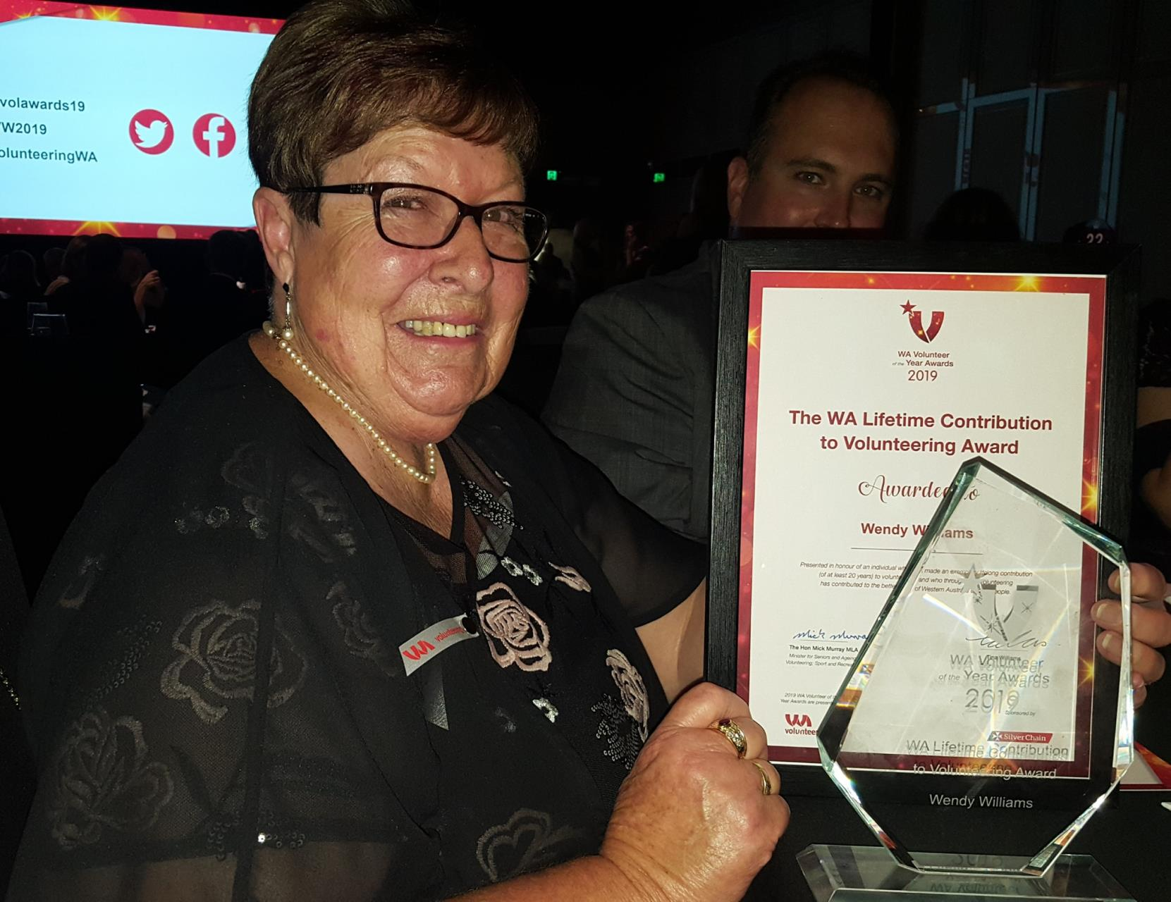 Wendy Williams receives WA Lifetime Contribution to Volunteering Award